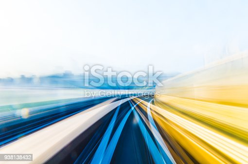 istock Speed motion in urban highway road tunnel 938138432