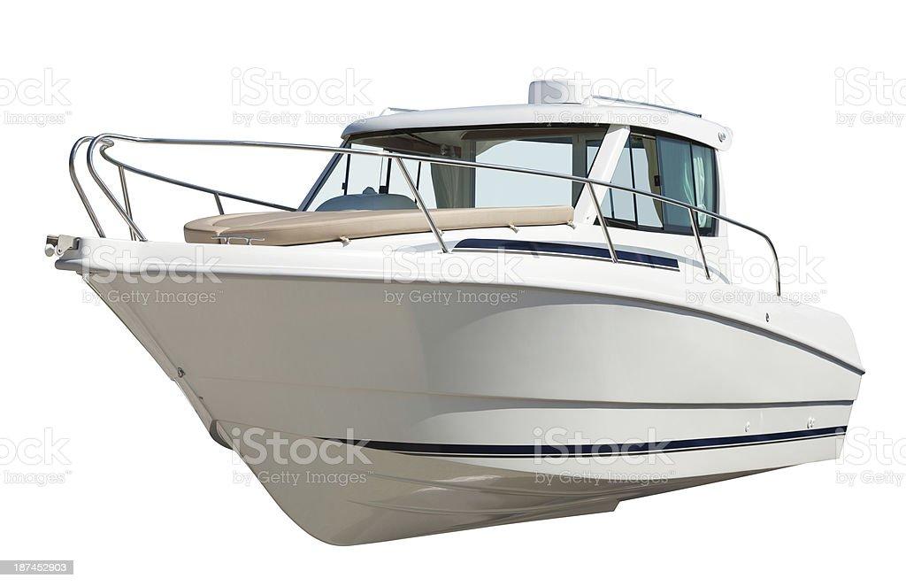 Velocidade de barco a motor.  Isolado sobre o branco foto royalty-free