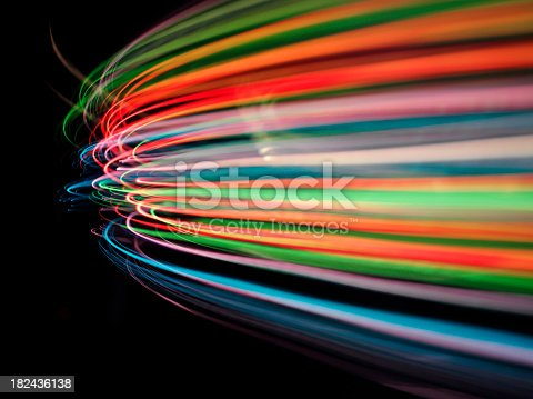 istock Speed of Coloured Lights 182436138