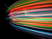 """""""Curves of coloured lights.Click on the links below to see more of my pyrotechnic,medical and business images."""""""