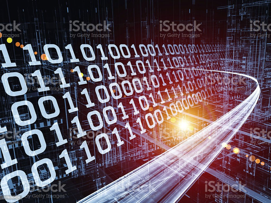 Speed of Information Stream stock photo