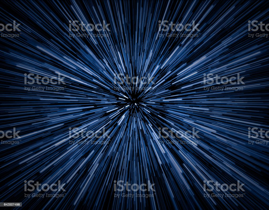 Speed of light stock photo