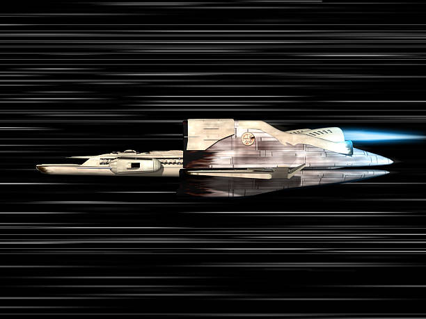 Lichtgeschwindigkeit mit space ship – Foto