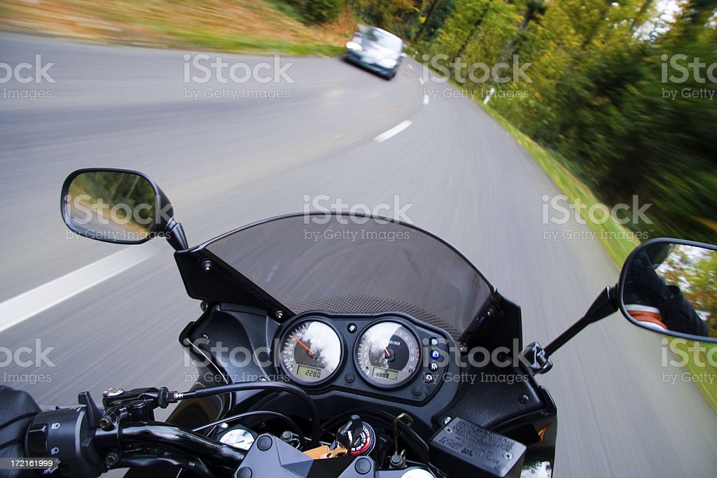 Speed on Bike royalty-free stock photo