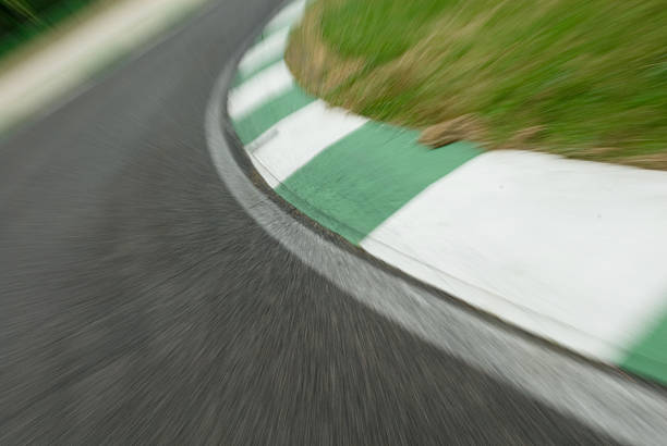 Speed on Track stock photo