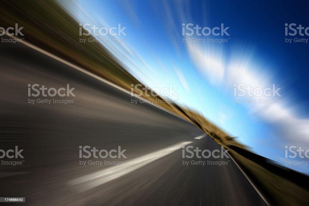 Speed Open Road stock photo