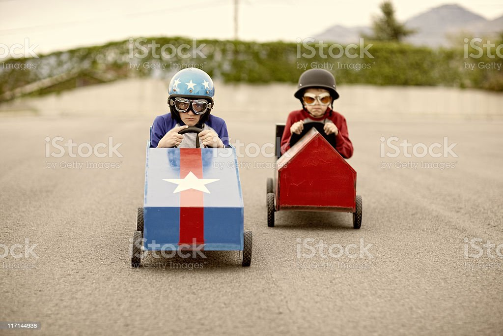 Speed Racers royalty-free stock photo