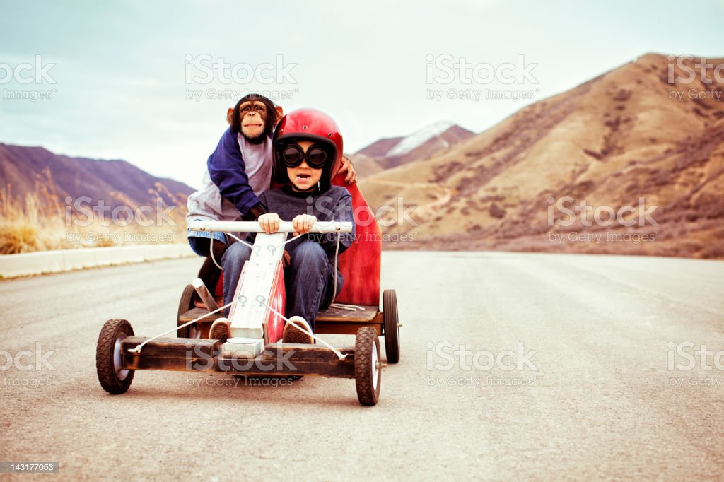 Speed Racers! royalty-free stock photo