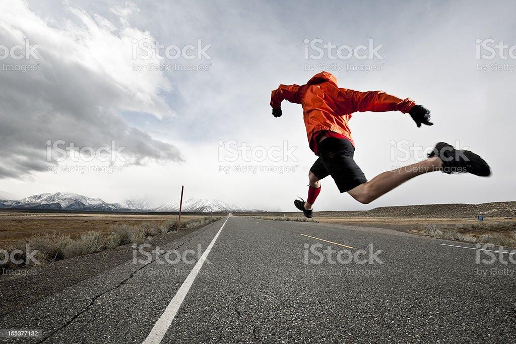 speed running stock photo
