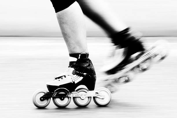 Speed skating stock photo