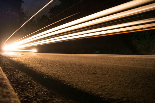Speed, traffic at night