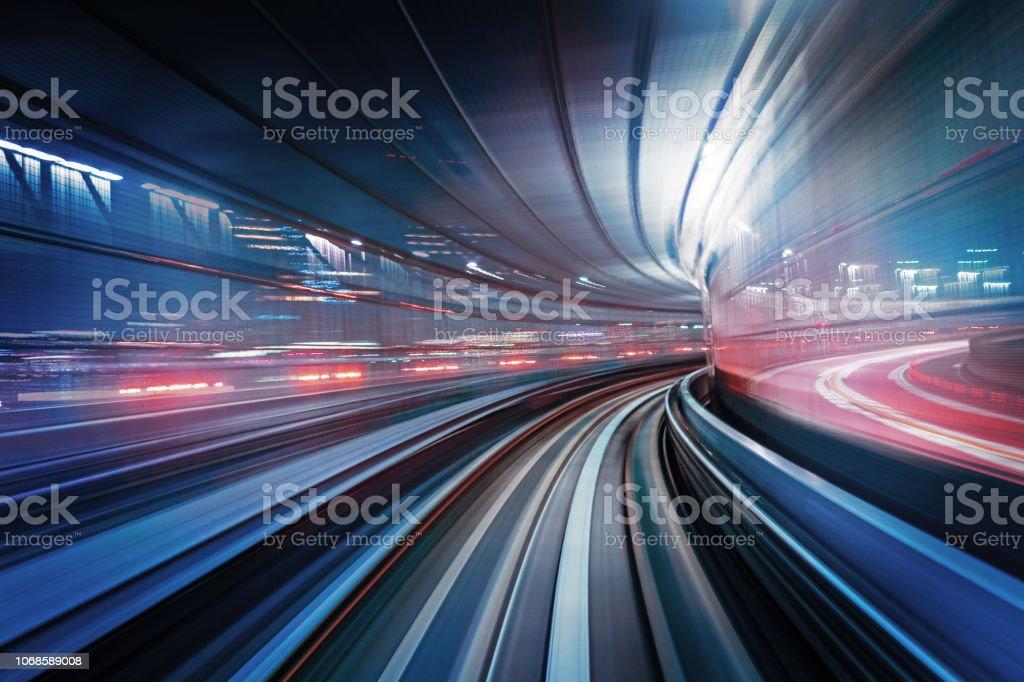 Speed Train in Tokyo Odaiba Japan - Royalty-free Abstract Stock Photo