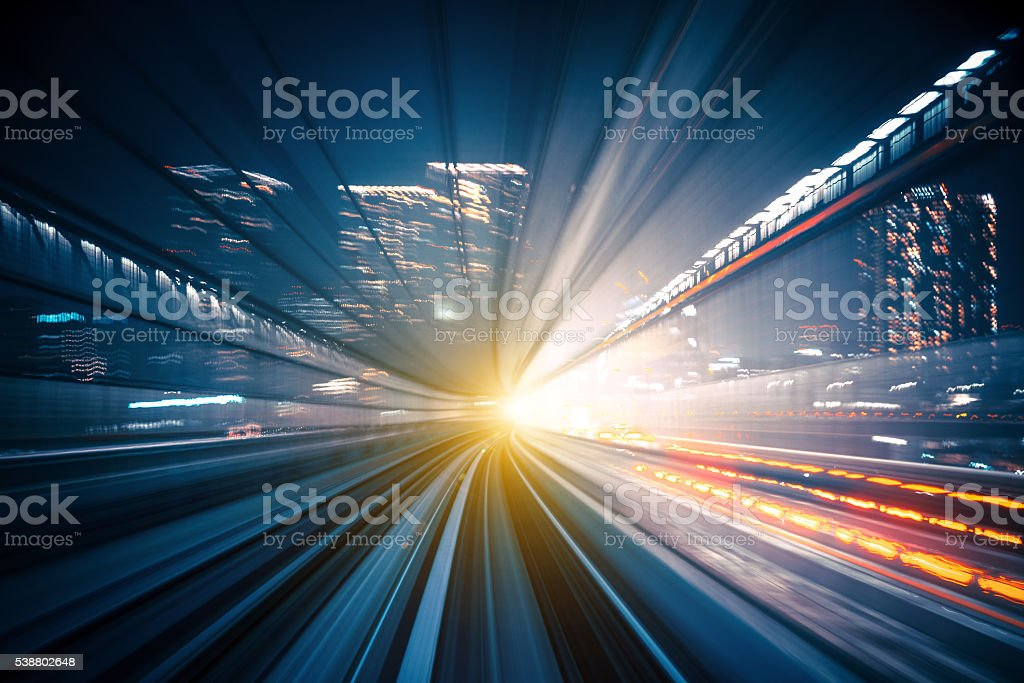 Speed - Train in Tokyo stock photo
