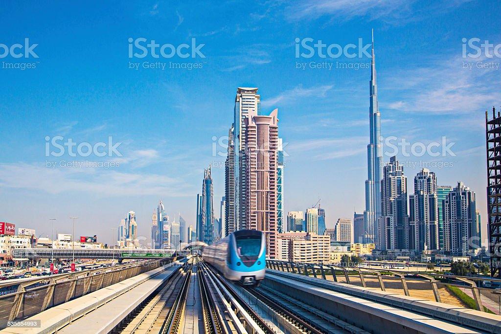 Speed transport at Dubai stock photo