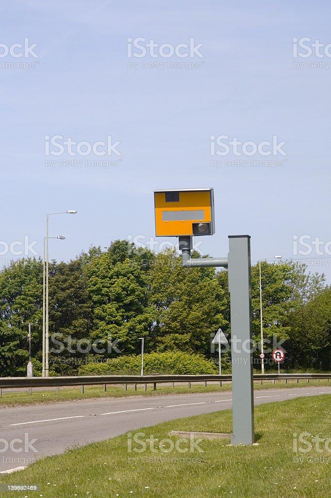 Speed trap camera, UK stock photo