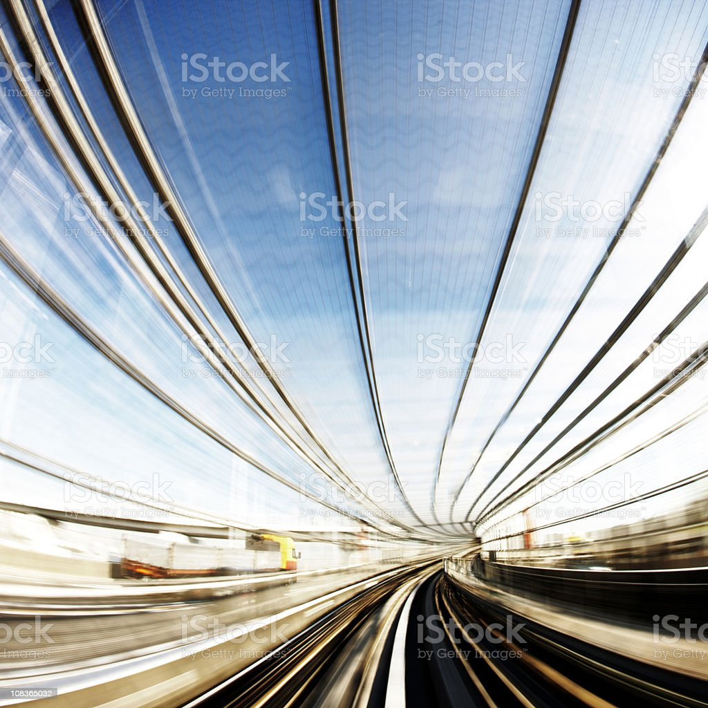 Speed tunnel royalty-free stock photo