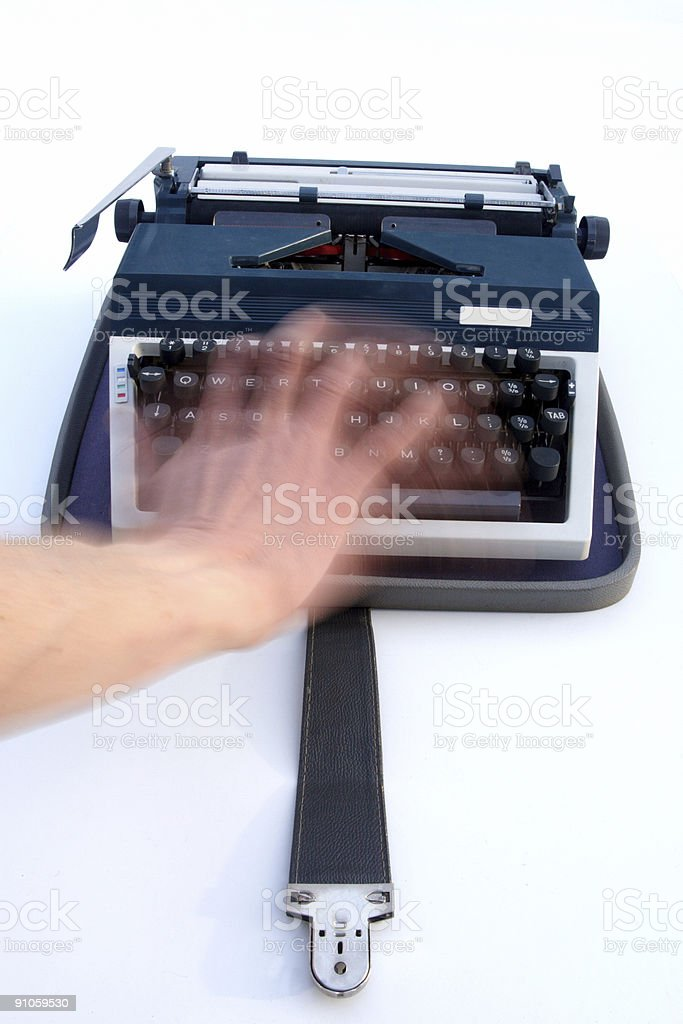 Speed Typing royalty-free stock photo