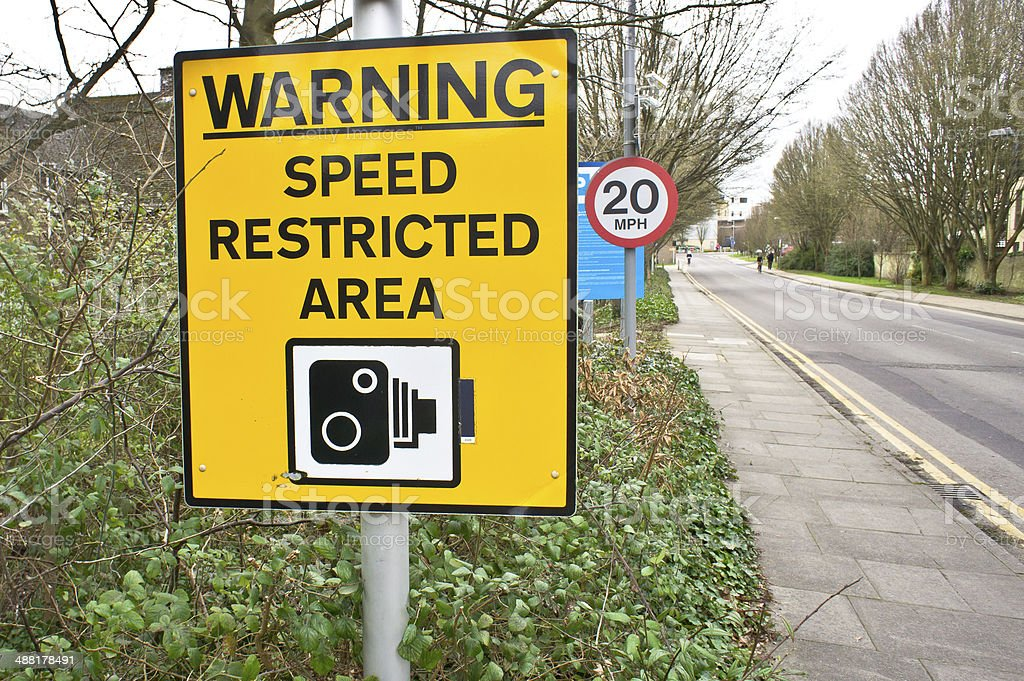 Speed warning royalty-free stock photo