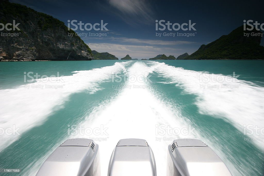Speed waves coming off a board stock photo