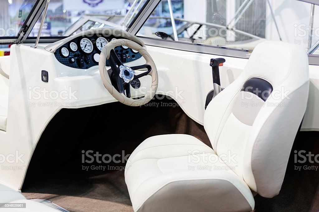 speedboat detail stock photo