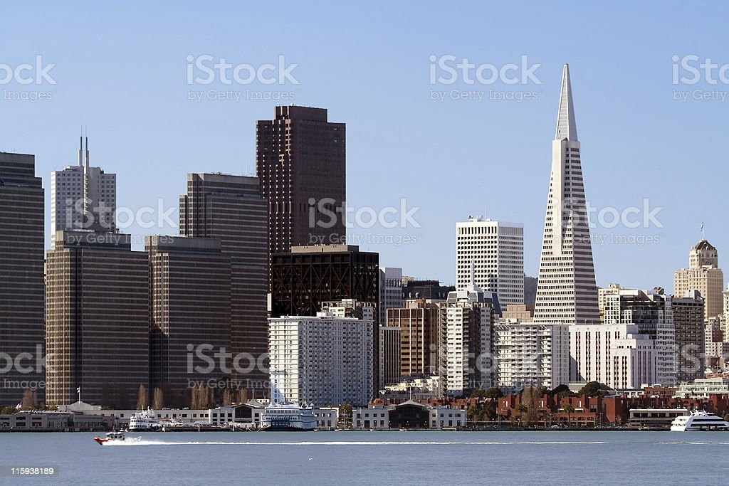 Speedboat in San Francisco royalty-free stock photo