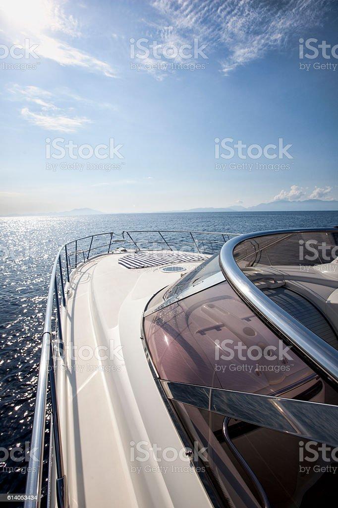 speedboat stock photo