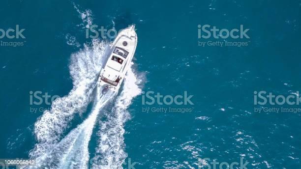 Photo of Speedboat roaring across the Mediterranean Sea
