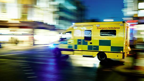 speeding ambulance - ambulance stock photos and pictures