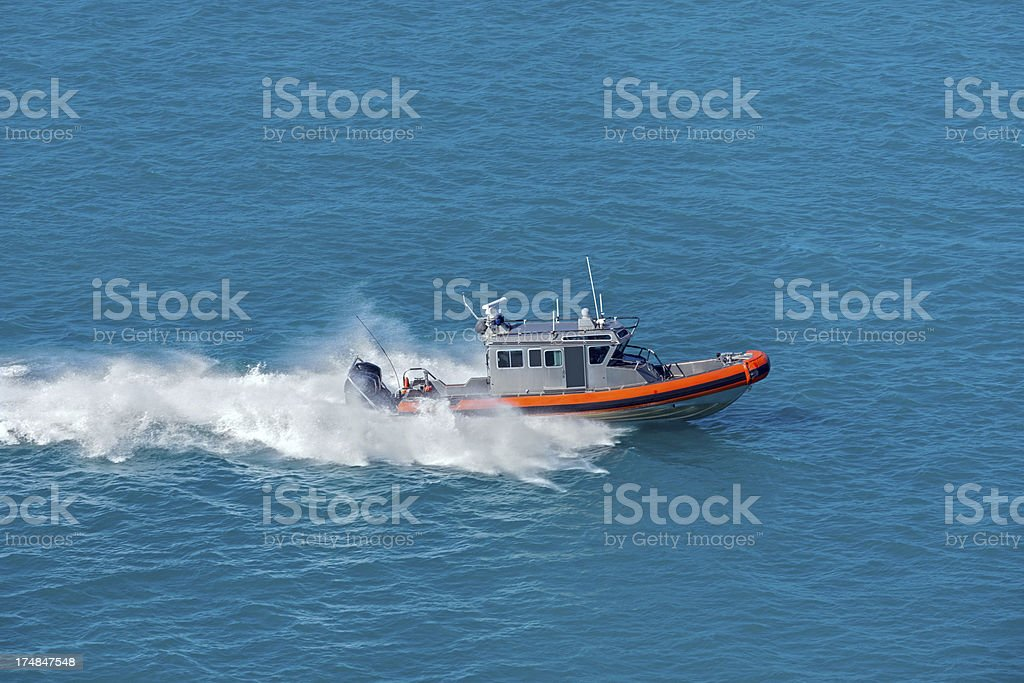 Speeding boat royalty-free stock photo