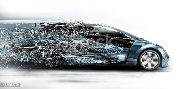 istock speeding car disintegrating 478952794