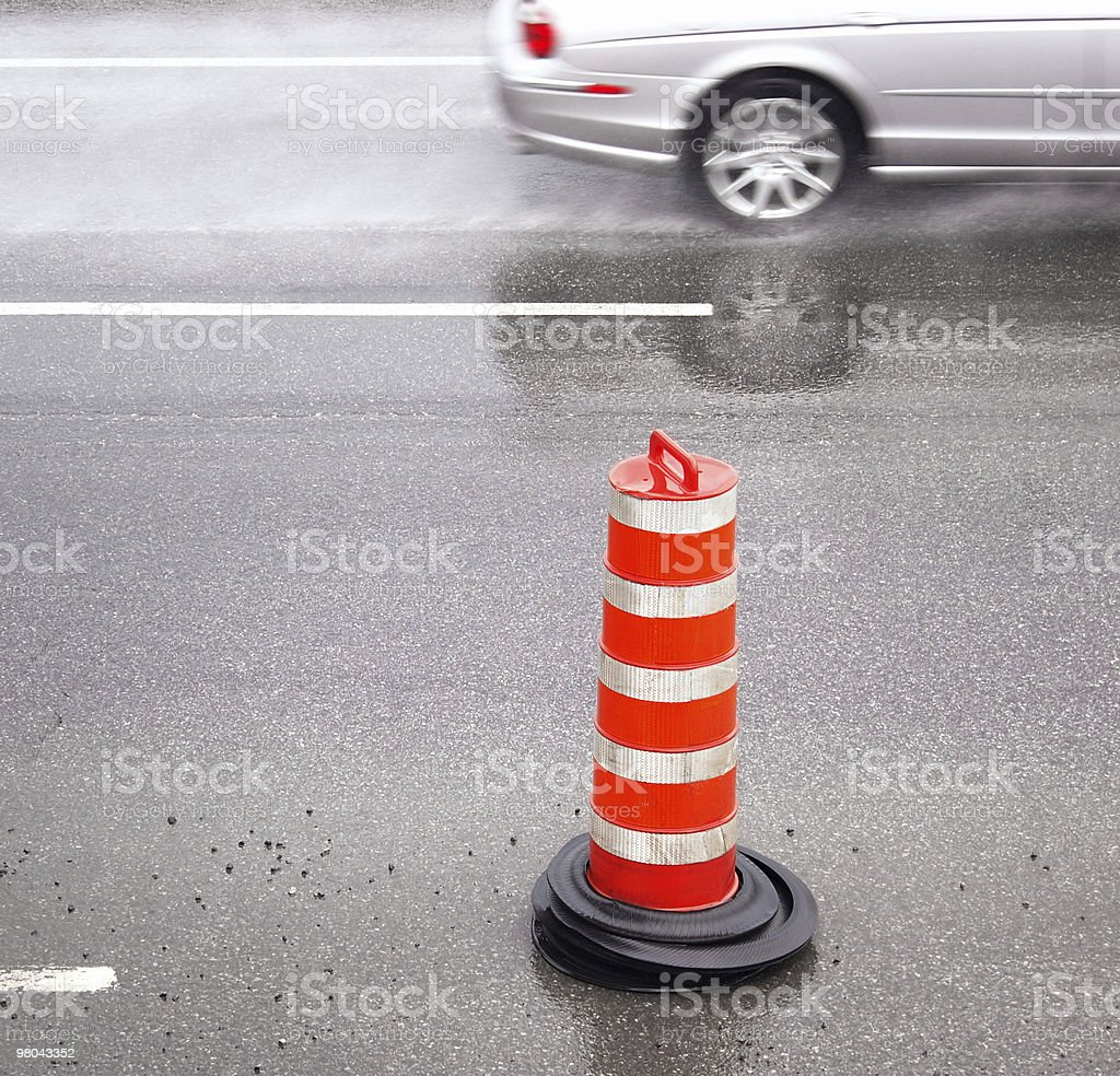 Speeding car royalty-free stock photo