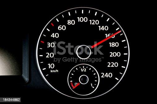 speedometer showing over 160 kmh