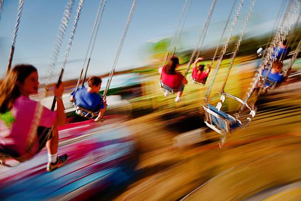 Beschleunigung Karussell vergnügen im fair – Foto
