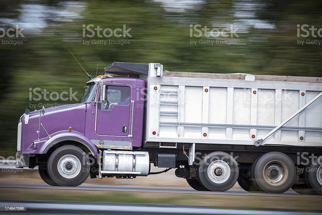 Speeding Dump Truck royalty-free stock photo