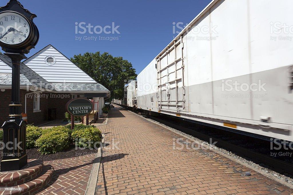 Speeding Freight Train royalty-free stock photo
