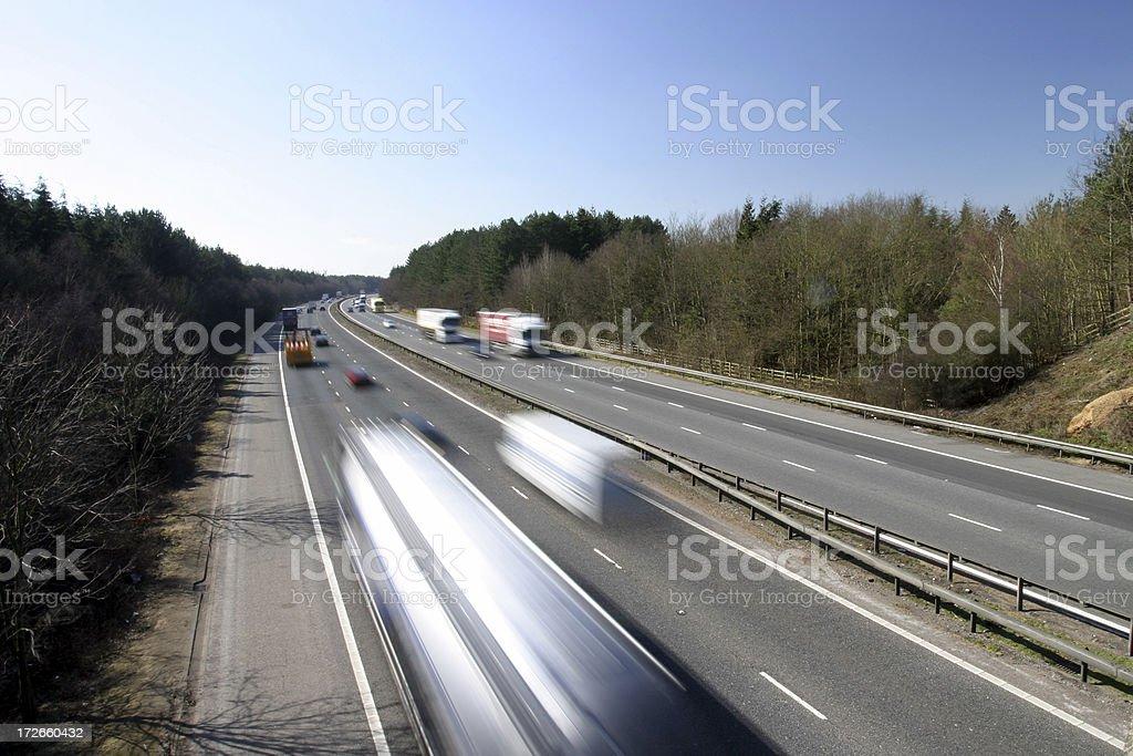 Speeding lorries royalty-free stock photo