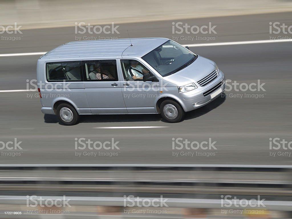 Speeding Minivan royalty-free stock photo
