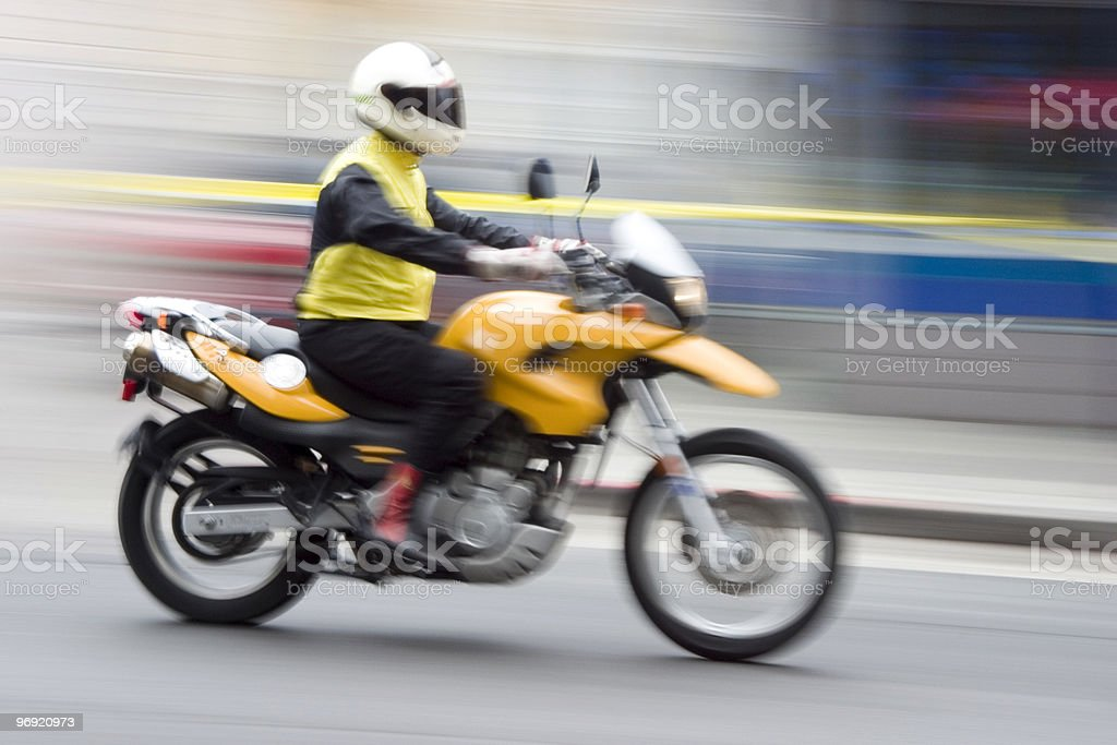 Speeding Motorcycle 1 stock photo