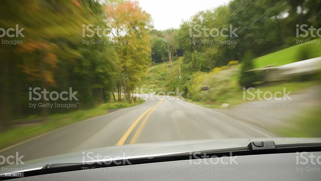 Speeding! stock photo
