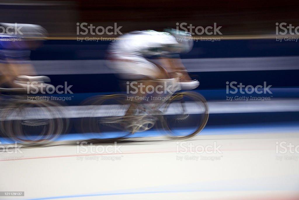 speeding raicing bikes royalty-free stock photo