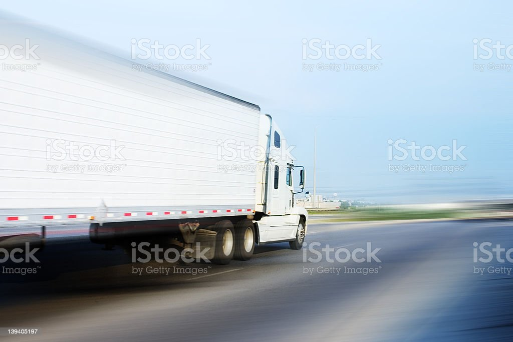 Speeding Rig royalty-free stock photo