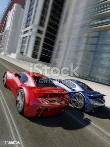 istock Speeding Sports Cars 172895708