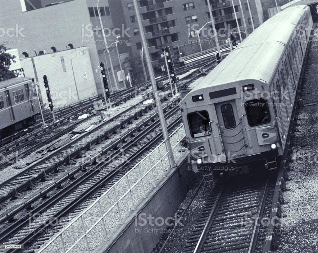 Speeding Subway royalty-free stock photo