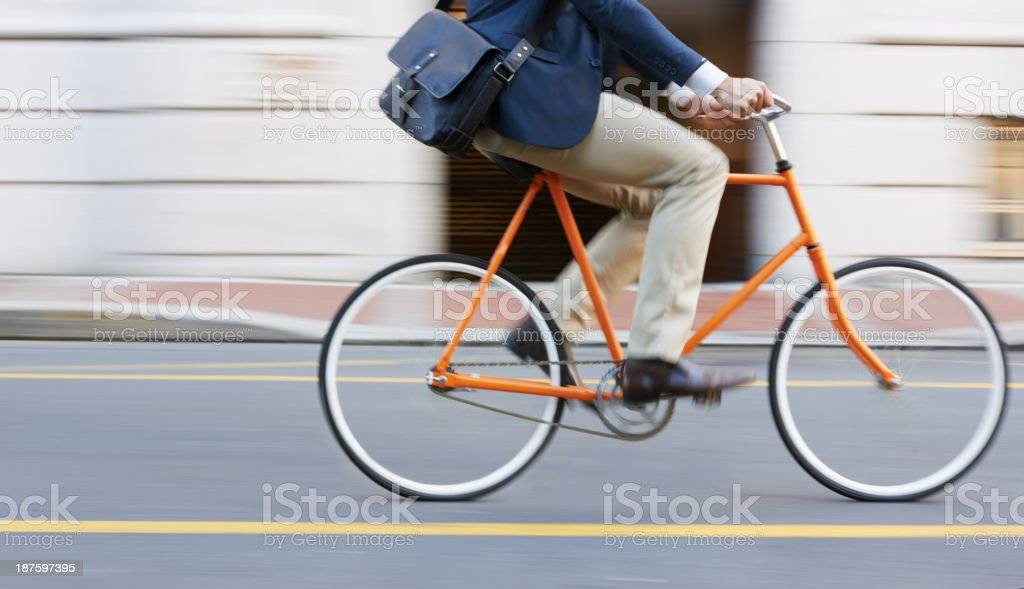 Speeding through the streets stock photo