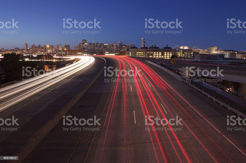 Speeding to San Francisco stock photo