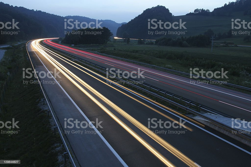 Speeding traffic III stock photo