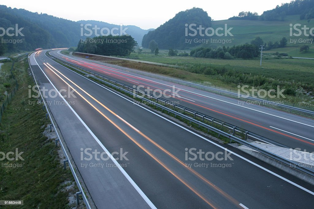 Speeding traffic royalty-free stock photo