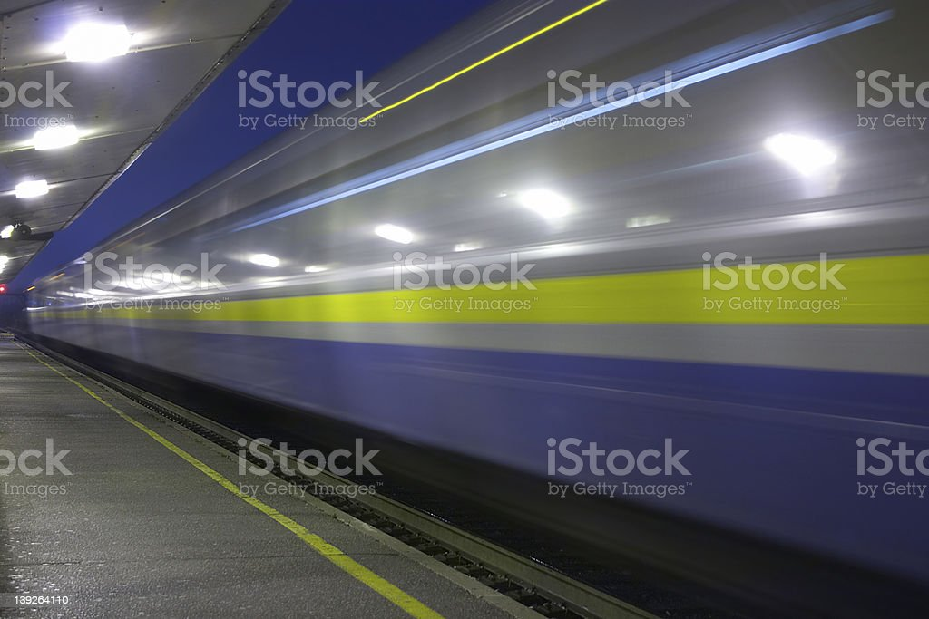 Speeding Train stock photo