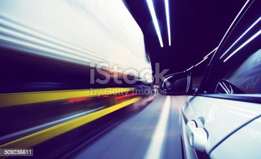 istock Speeding truck 509236611