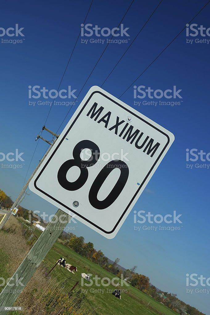 Speedlimit-Maximum de 80 km/h - Photo